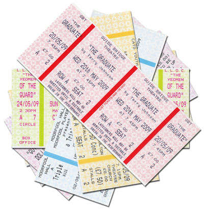 Horizontal standard tickets